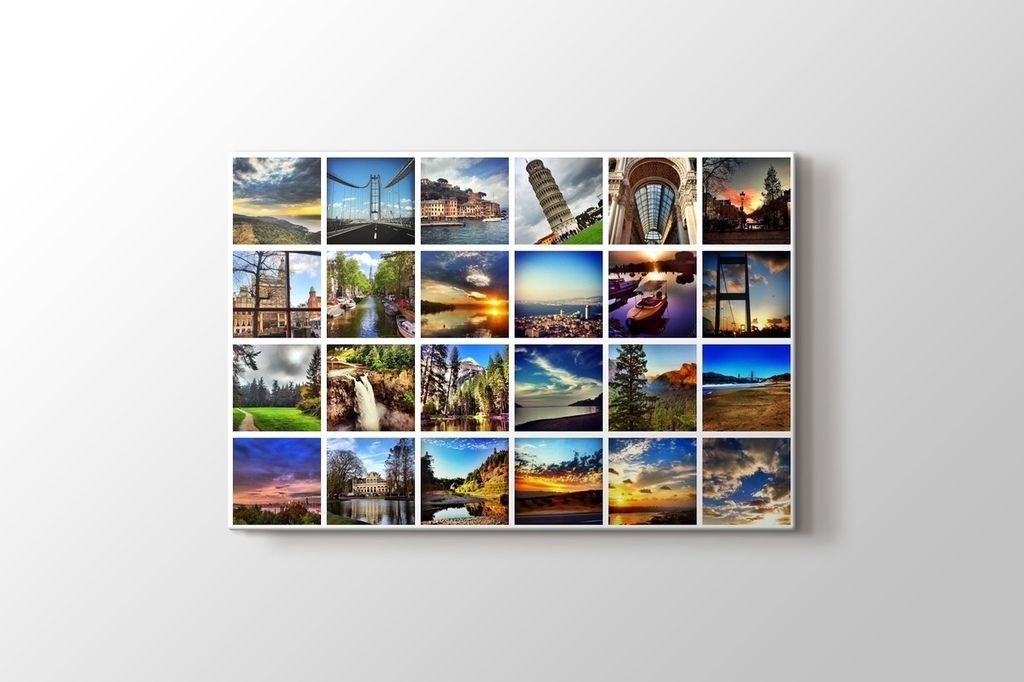 Picture of 24 photos horizontal mosaic