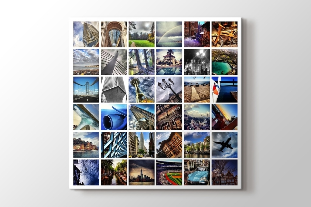 Picture of 36 photos square mosaic