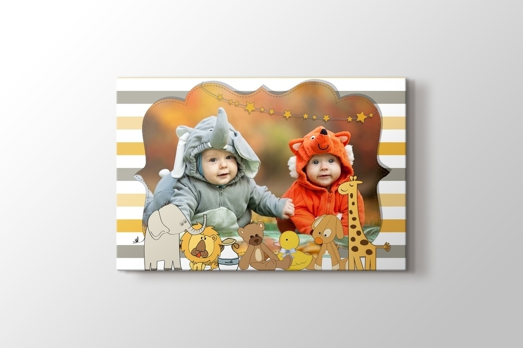 Picture of Cute Animals Photo on Canvas Print