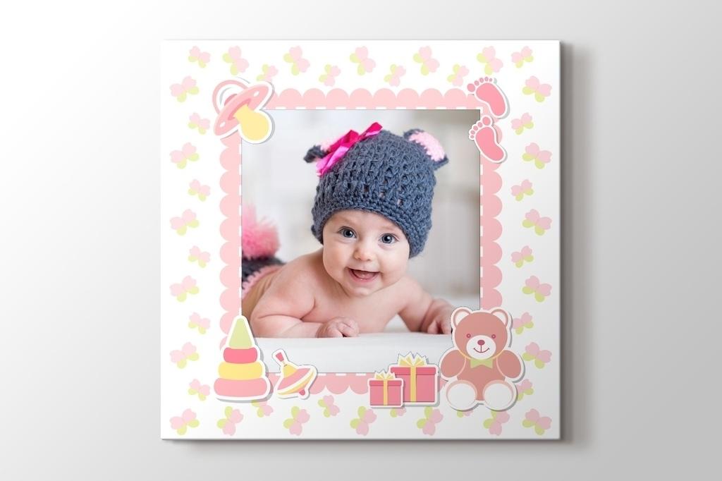 Picture of Kız bebek için fotoğrafından kanvas tablo