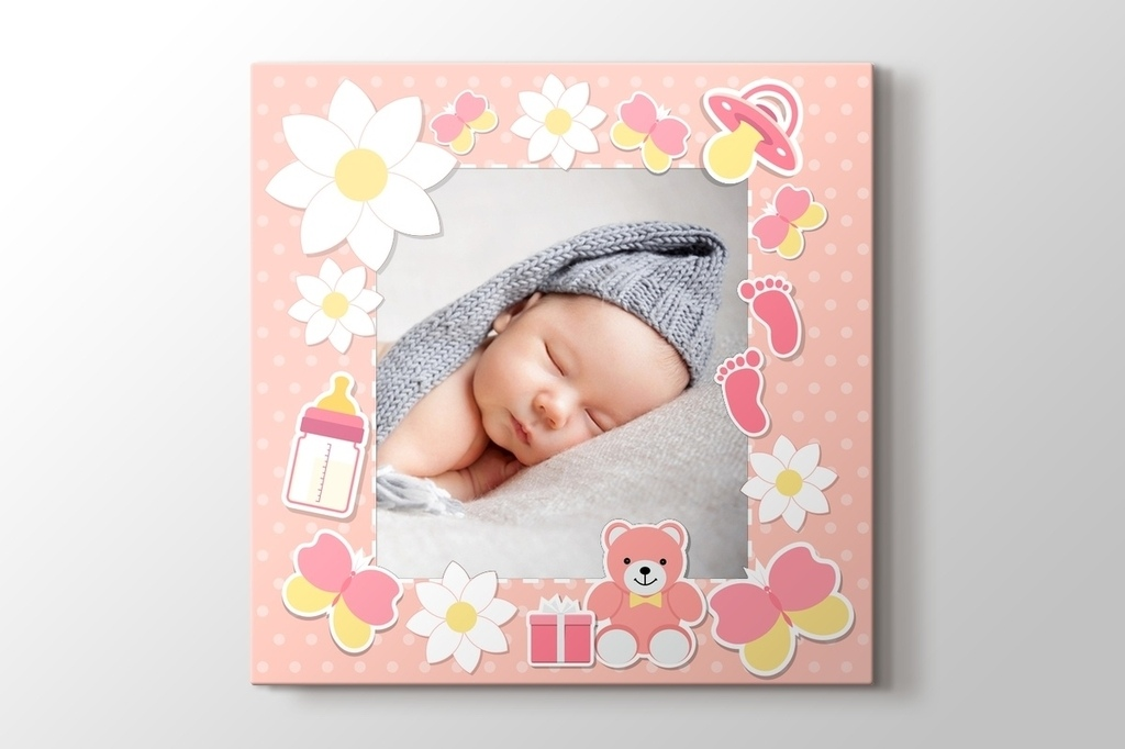 Picture of Baby Girl Photo on Canvas