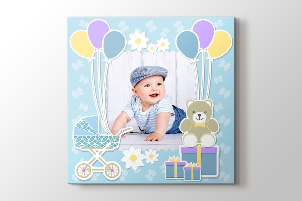 Picture of Baby Boy Photo on Canvas
