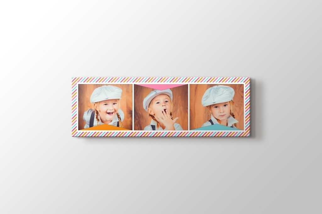 Picture of Three Photos on Panoramic Canvas