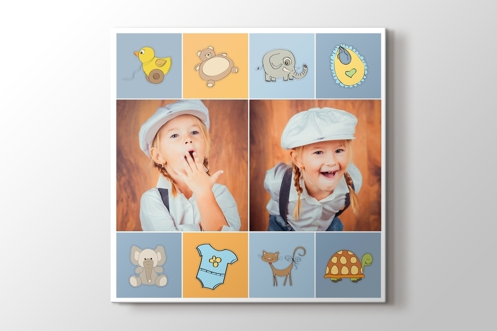 Picture of Baby Boy Two Photos on Canvas