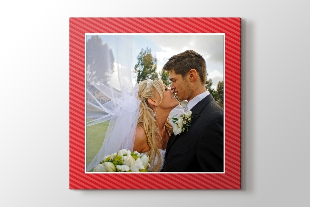 Picture of Red Bordered Photo on Canvas