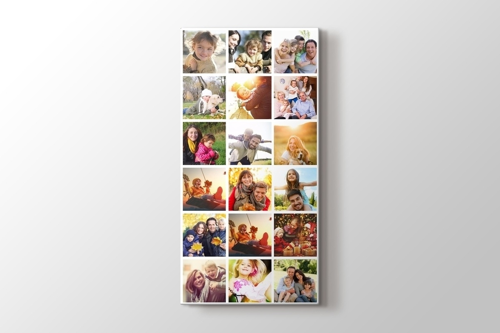Picture of 18 photos vertical mosaic