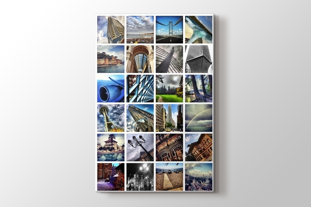 Picture of 24 photos vertical mosaic