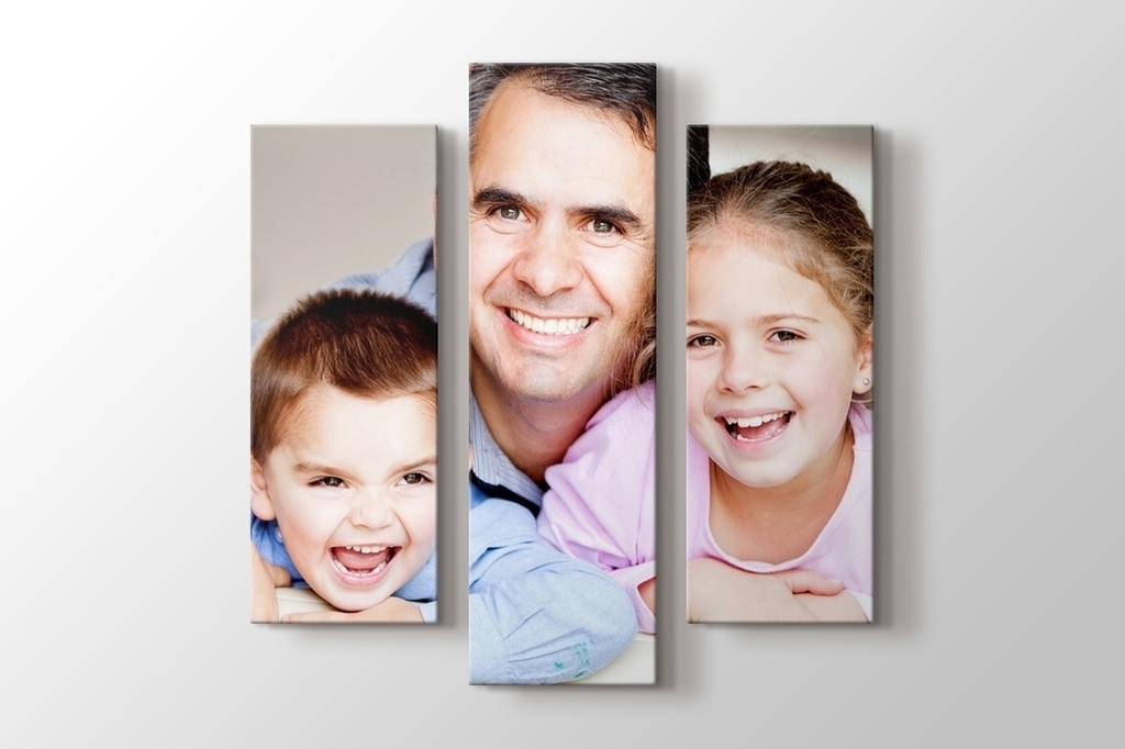Picture of Three Pieces Photo on Canvas