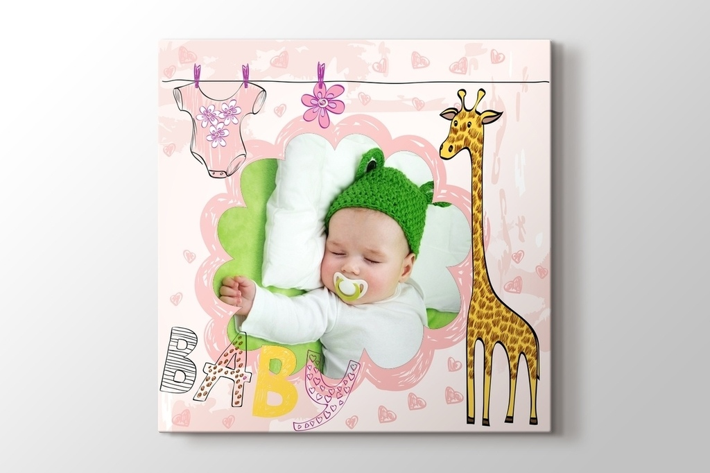 Picture of Giraffe Photo on Canvas