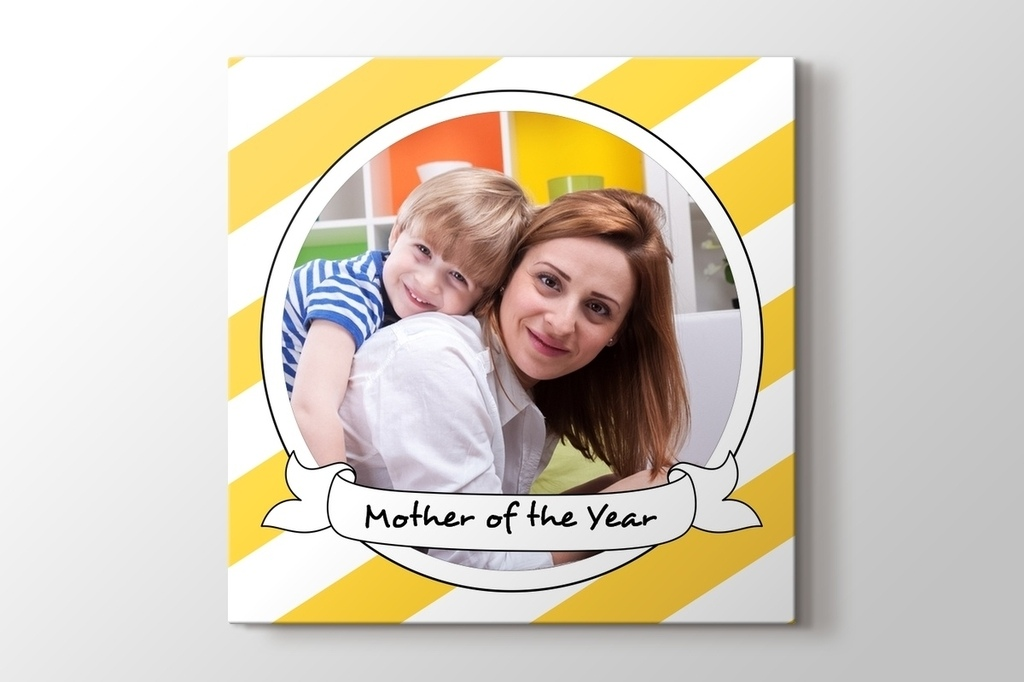 Picture of Mother of the Year Canvas Print Gift