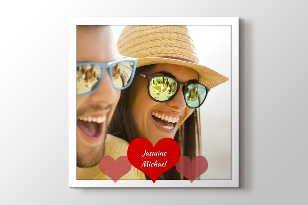 Picture of Three Hearts Photo on Canvas Print