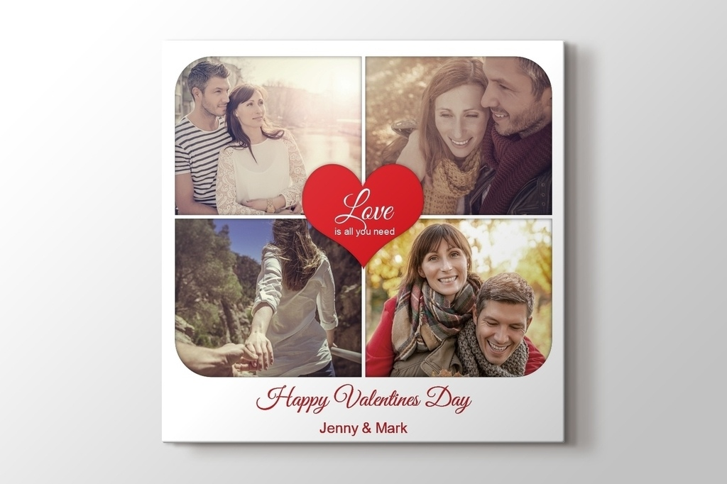 Picture of Valentines Canvas Print Gift for Her