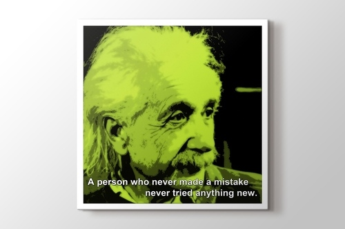 Picture of Albert Einstein - Mistake
