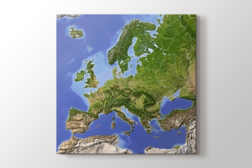 Picture of Physical Map of Europe