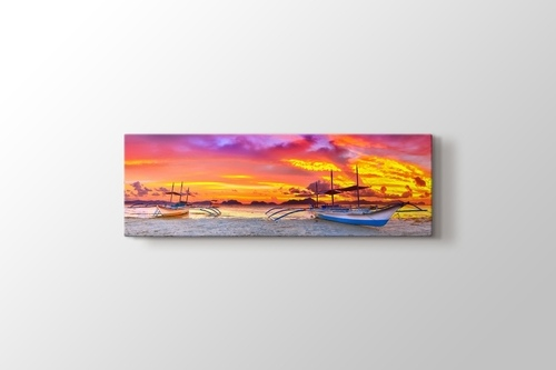 Picture of Boats and Sunset