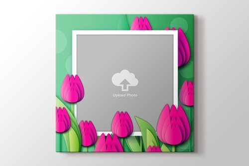 Picture of Pink Tulips Photo on Canvas