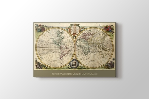 Picture of Vintage World Map 1762