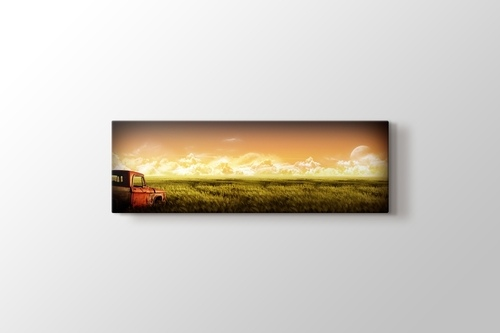 Picture of Old Car on the Crops