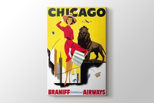 Picture of Chicago Vintage Havayolu Posteri