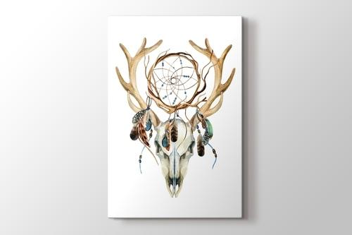 Picture of Deer Skull with Dreamcatcher
