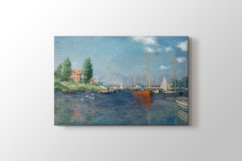 Picture of Claude Monet - Red Boats at Argenteuil