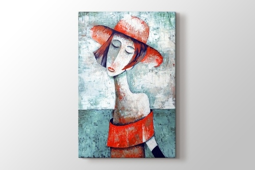 Picture of Woman in Red
