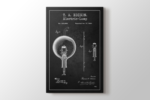 Picture of Thomas Edison Electric Lamp Patent