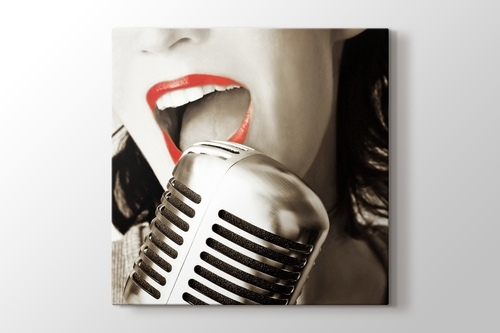 Picture of Red Lips and the Microphone