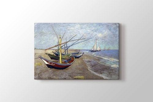 Picture of Fishing Boats on the Beach at Saintes Maries