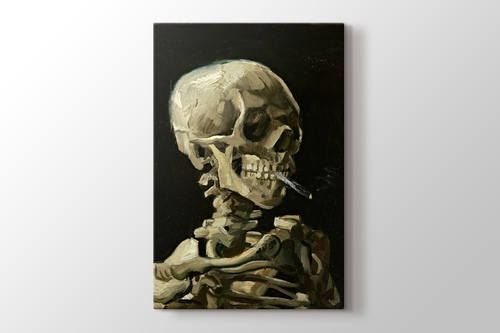 Picture of Head of a Skeleton with a Burning Cigarette