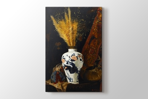 Picture of White Vase with Flower