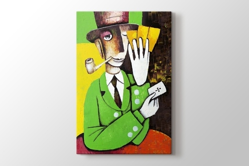 Picture of Man Playing Cards