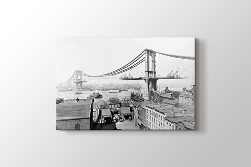 Picture of Manhattan Bridge on Construction 1909
