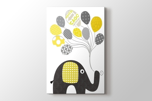 Picture of Elephant and Baloon