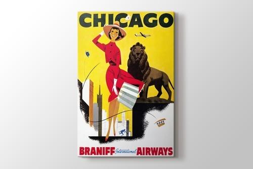 Picture of Chicago Vintage Havayolu Posteri