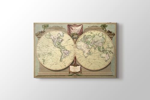 Picture of Vintage World Map 1808