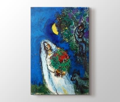 La Mariee A La Lune Marc Chagall Canvas Print - PlusCanvas