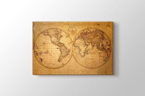 Picture of Vintage World Map 1793