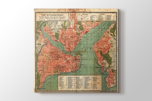 Picture of Vintage Constantinople Map