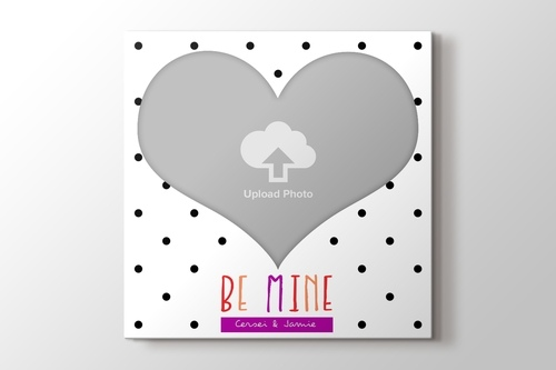 Picture of Be Mine Heart Photo to Canvas Print