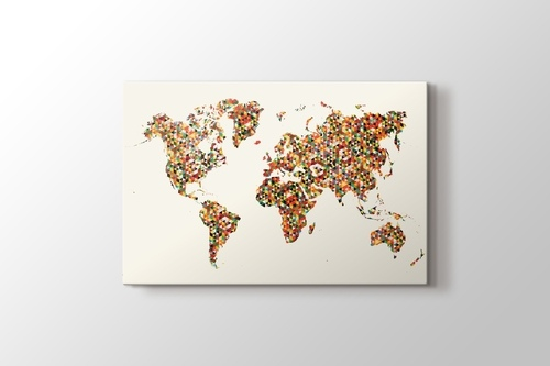 Picture of World Map Triangle