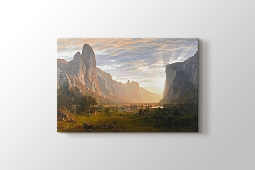 Picture of Looking Down Yosemite Valley California 1865