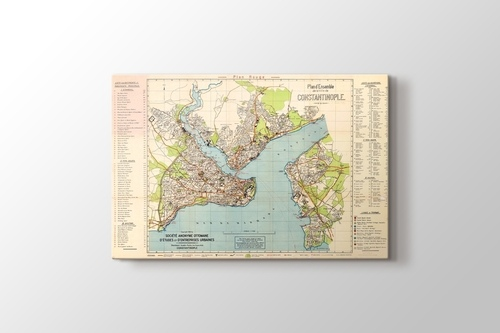 Picture of Vintage Constantinople Map 1922