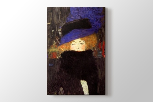 Picture of Lady with Hat and Feather Boa
