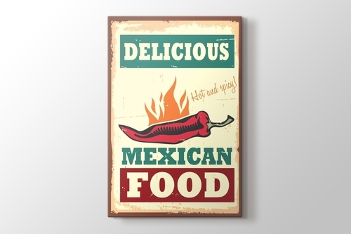 Picture of Vintage Mexican Food Poster