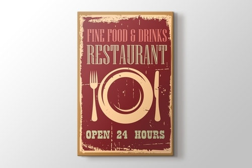 Picture of Vintage Restaurant Poster