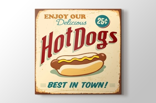 Picture of Vintage Hot Dog Poster