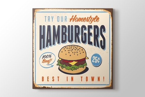Picture of Vintage Burger Poster