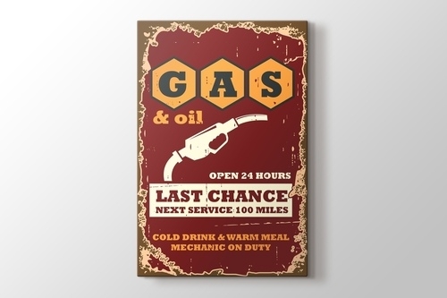 Picture of Vintage Gas Poster