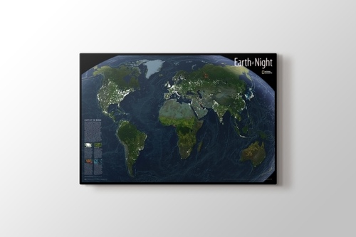 Picture of World Night Map